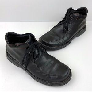 CLARKS Mens Black Leather Chukka Ankle Boots Sz 10